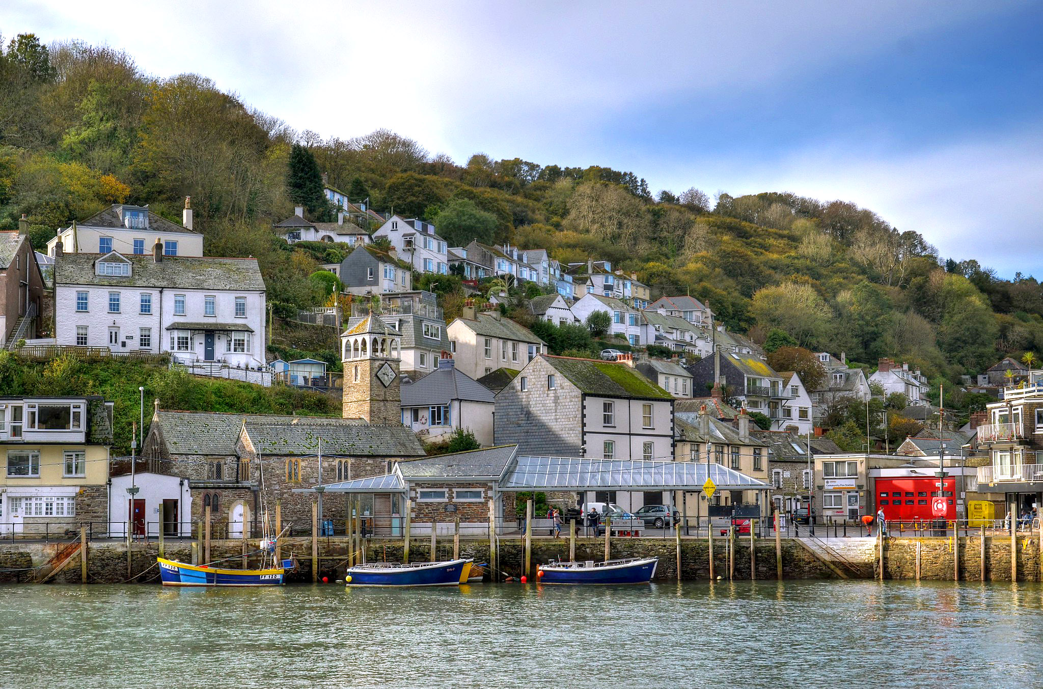 The riverside at West Looe, Cornwall by Baz Richardson.jpg