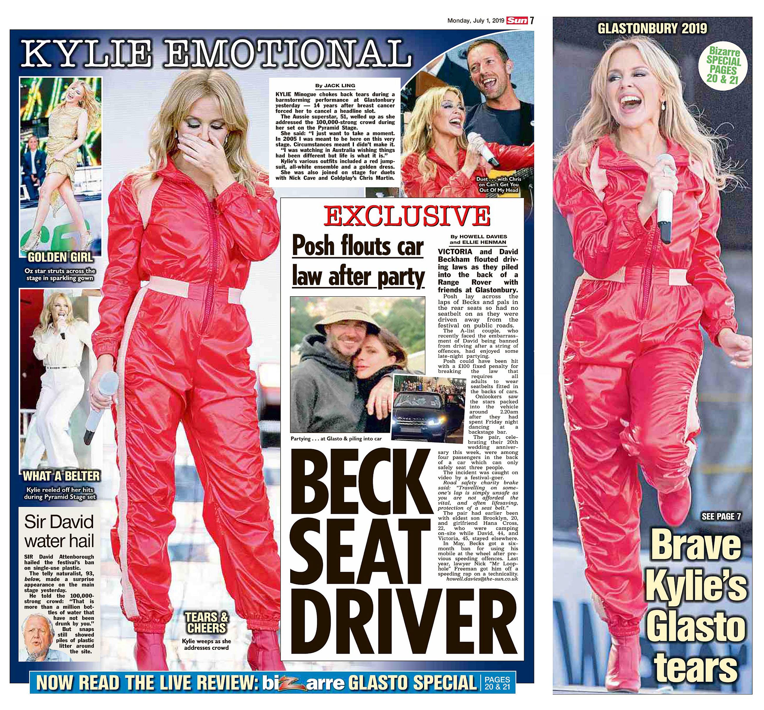 The Sun UK 1 July 2019 Glasto Kylie.jpg