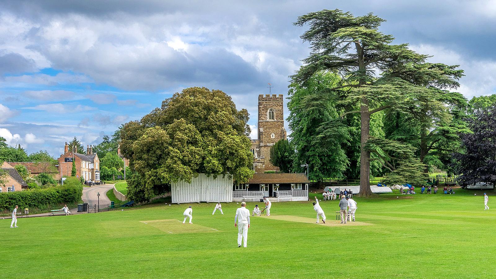 Village Cricket, Eversholt, Bedfordshire by Ken Barley.jpg