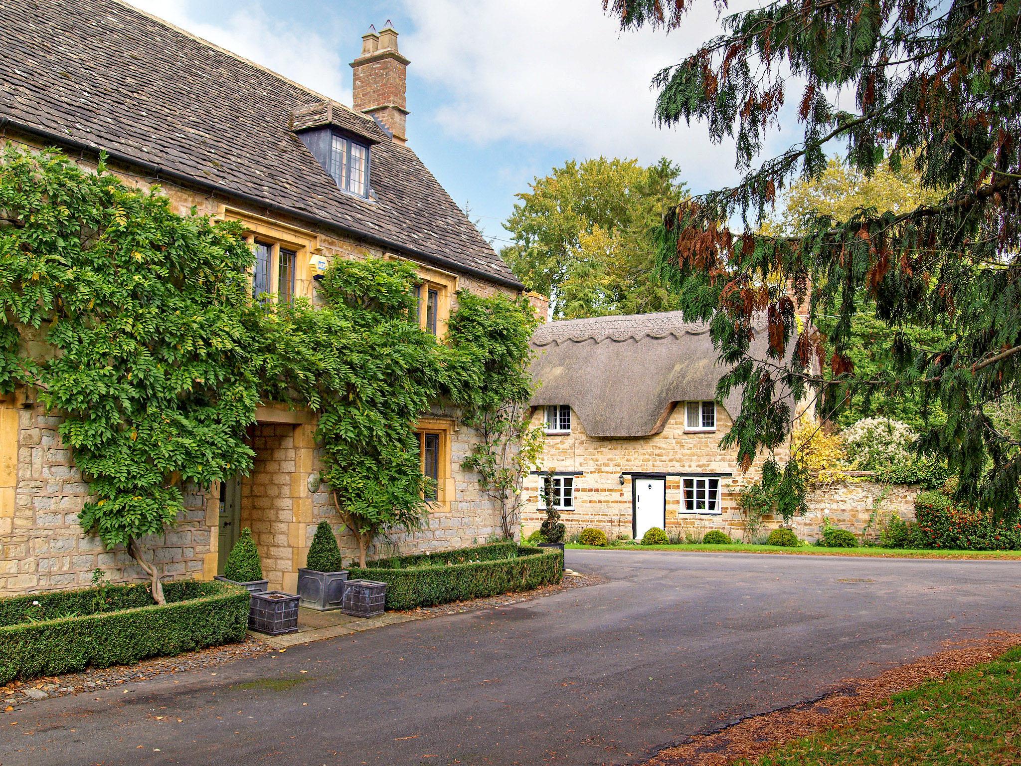 A shady corner of quiet Honington, Warwickshire by Andrew S Brown.jpg