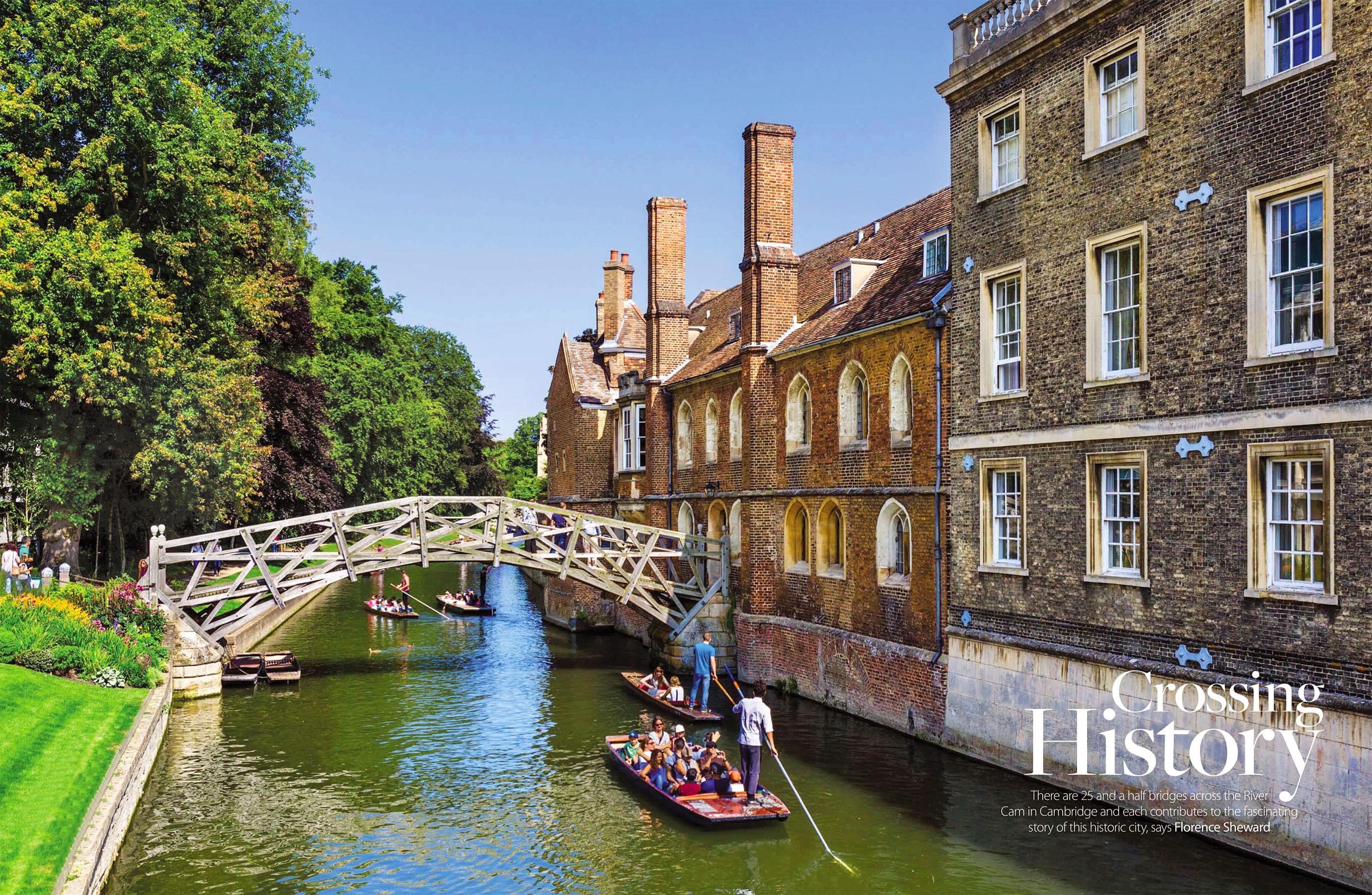 The Mathematical Bridge and Queens' College, Cambridge by Ian Dagnall.jpg