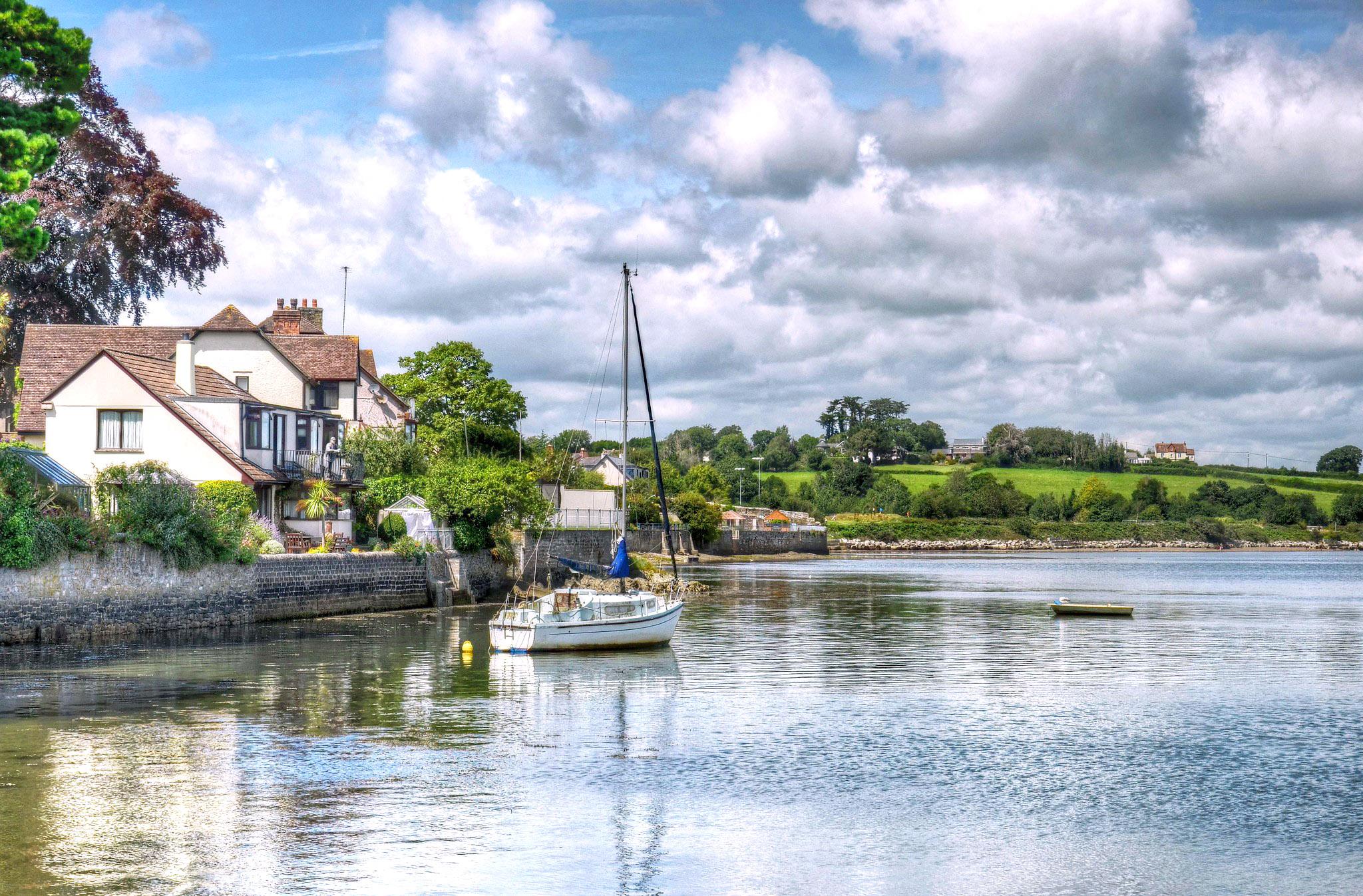 River Tamar near Saltash, Cornwall by Baz Richardson.jpg