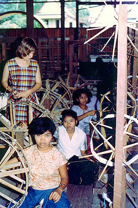 1967 Silk factory Kanthararom, Sisaket.jpg