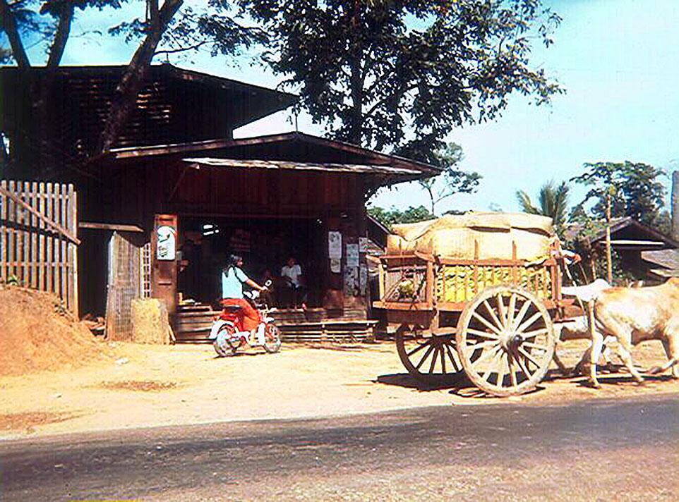 1968 Classic wooden ox cart of Nakorn Sri Thammarat.jpg