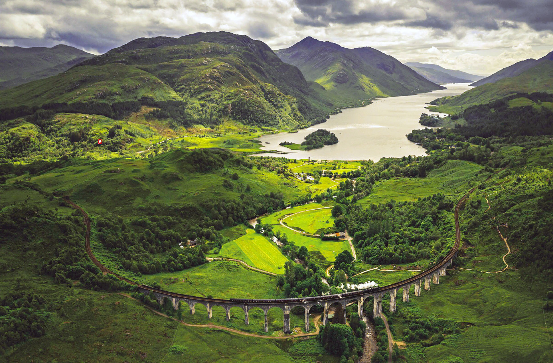 Glenfinnan Viaduct, Loch Shiel, Scotland by Neal Barr.jpg