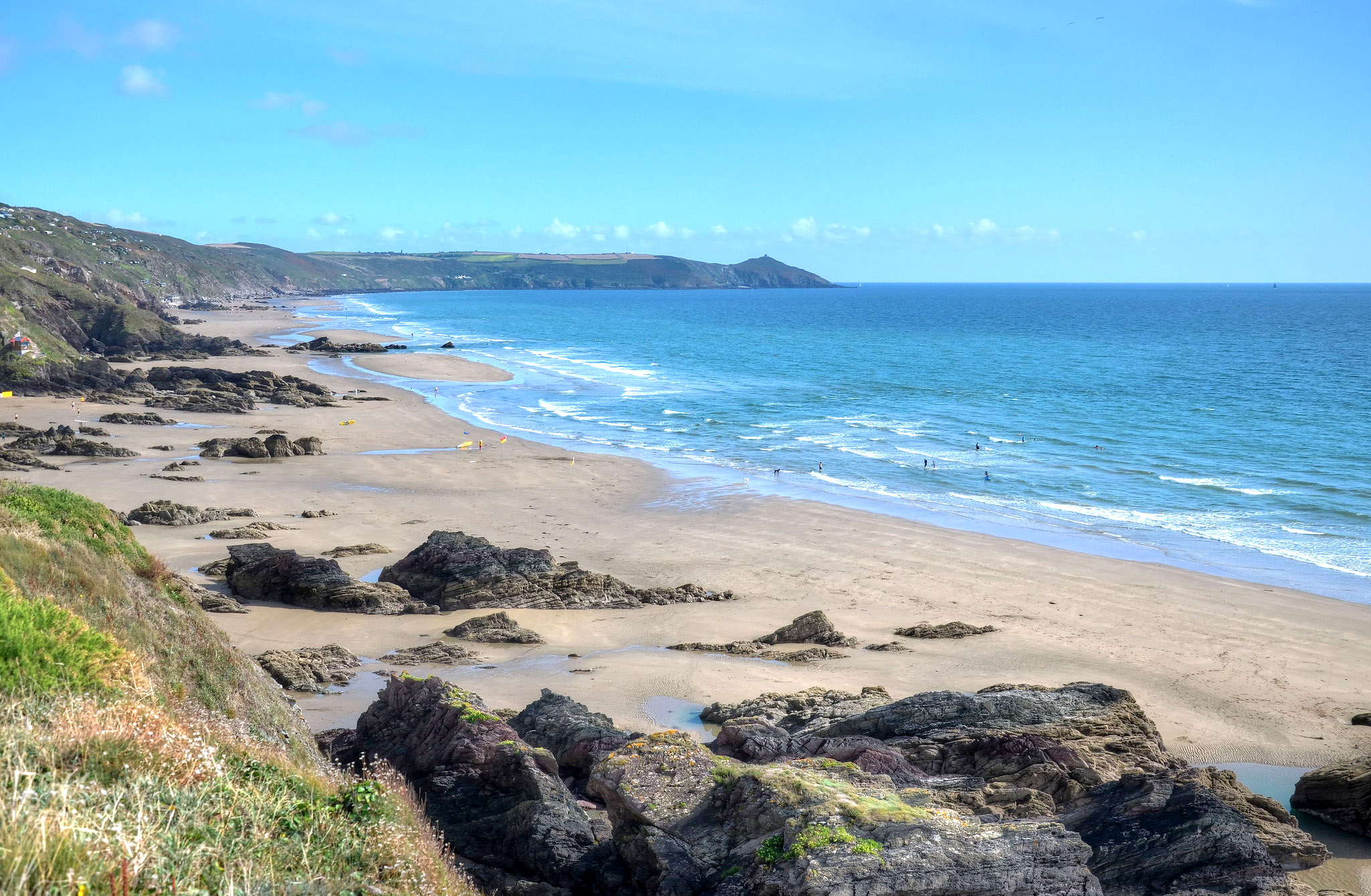 The sandy beach in Whitsand Bay, Cornwall by Baz Richardson.jpg