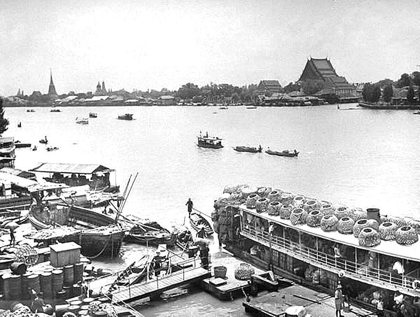 1950 March, Bangkok River Scene.jpg
