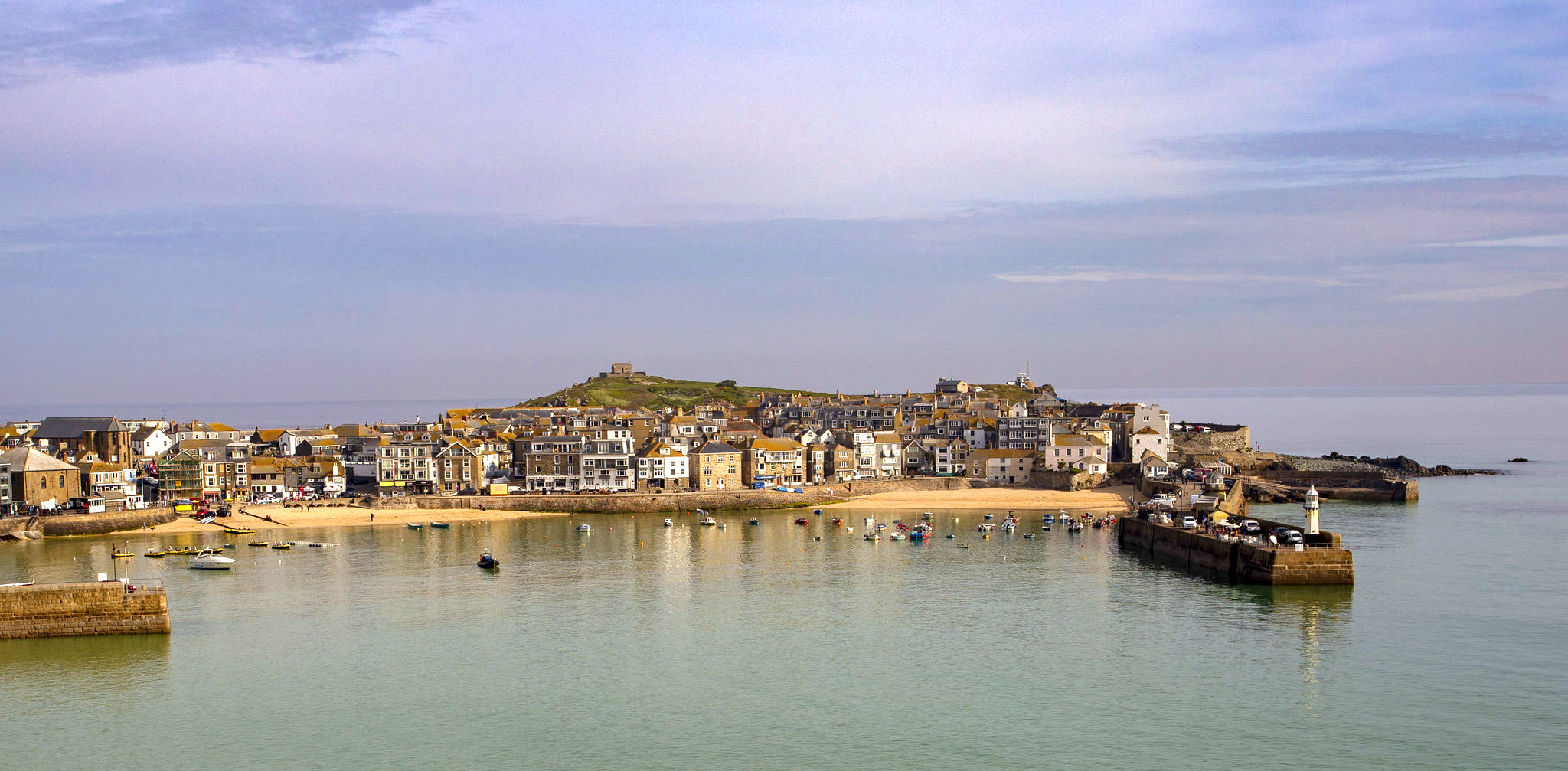 Morning tranquility Cornish harbour of St Ives by Steve Mantell.jpg