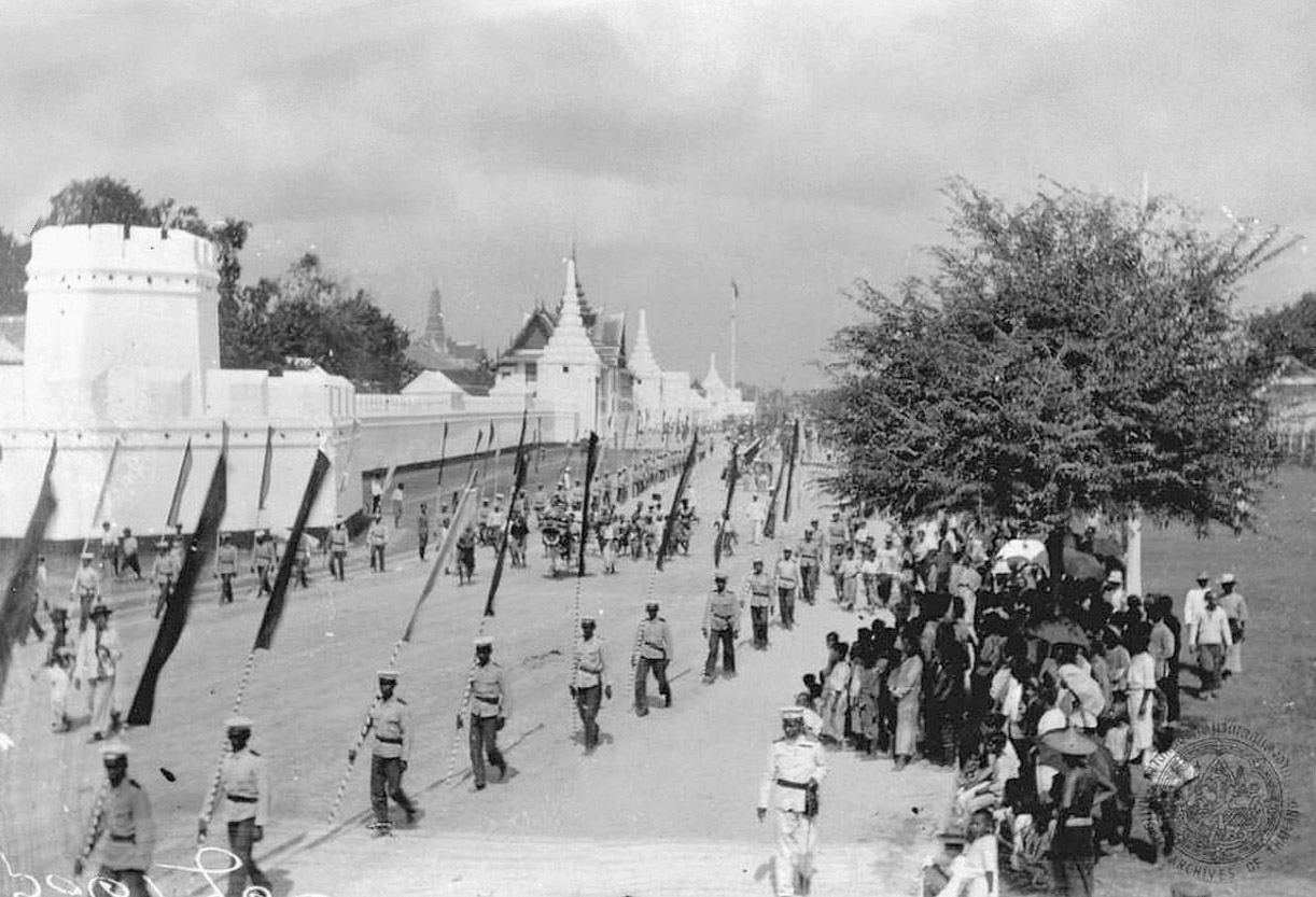1898 Sanam Chai Road procession to the annual Sao Ching Cha [Giant Swing] event.jpg