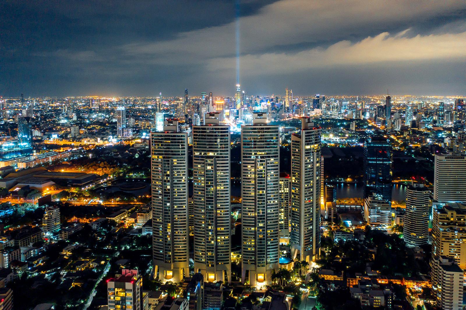 Bangkok city light up at night by Mongkol Chuewong.jpg