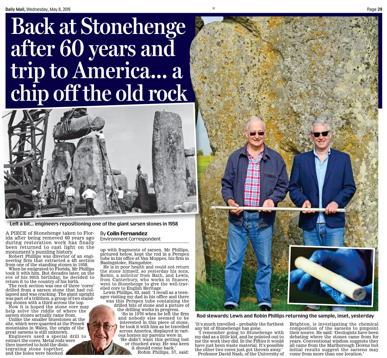 Daily Mail May 8 2019 Stonehendge.jpg