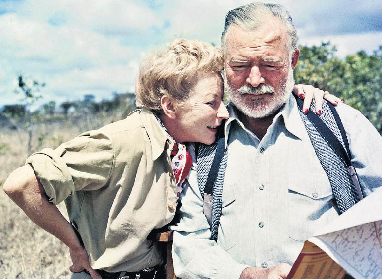 Hemingway with his fourth wife, Mary Welsh in Kenya, 1952 by Earl Thiesen.jpg