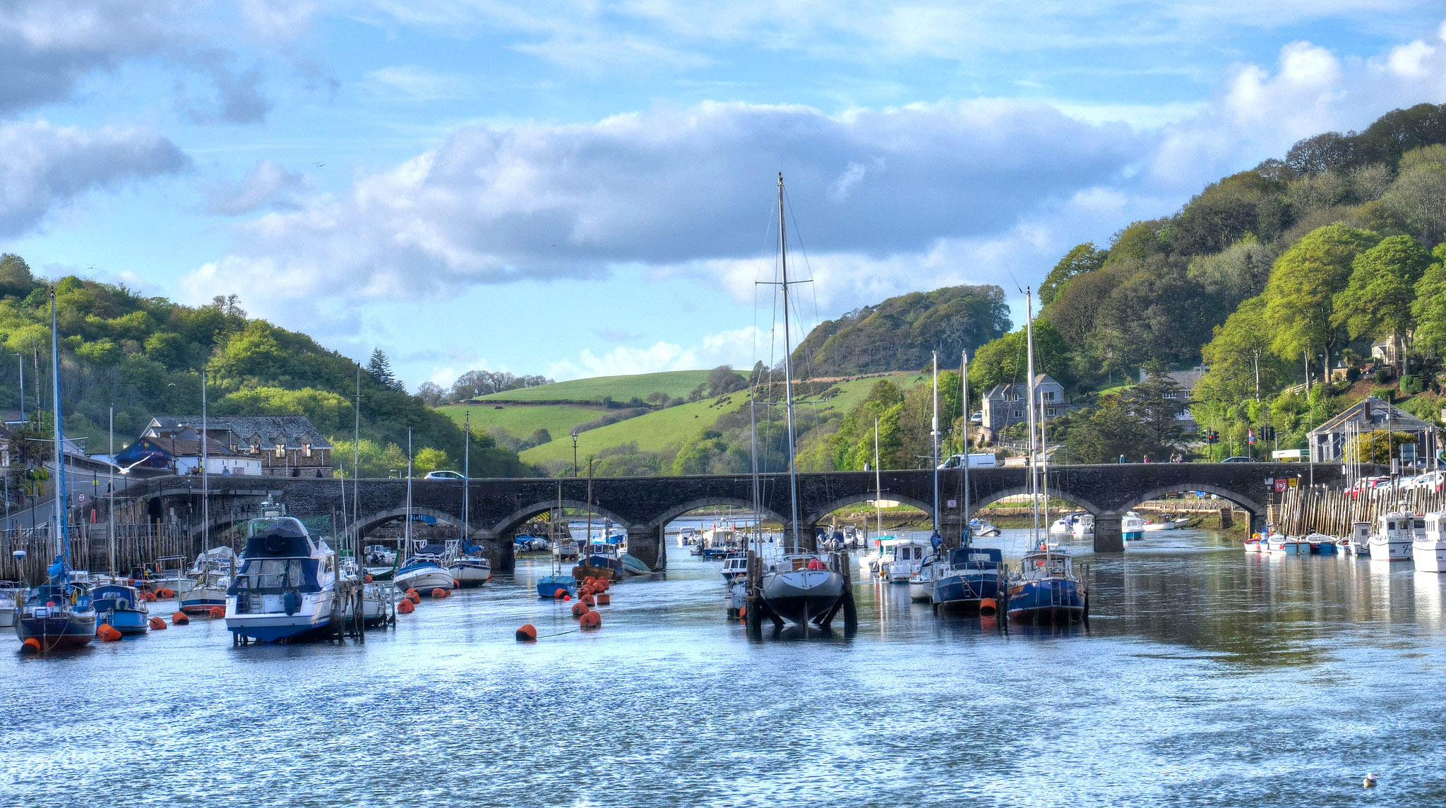 The river at Looe, Cornwall by Baz Richardson.jpg