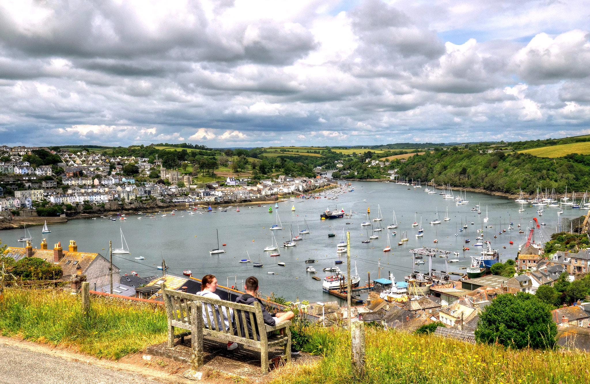 The harbour at Fowey, Cornwall by Baz Richardson.jpg