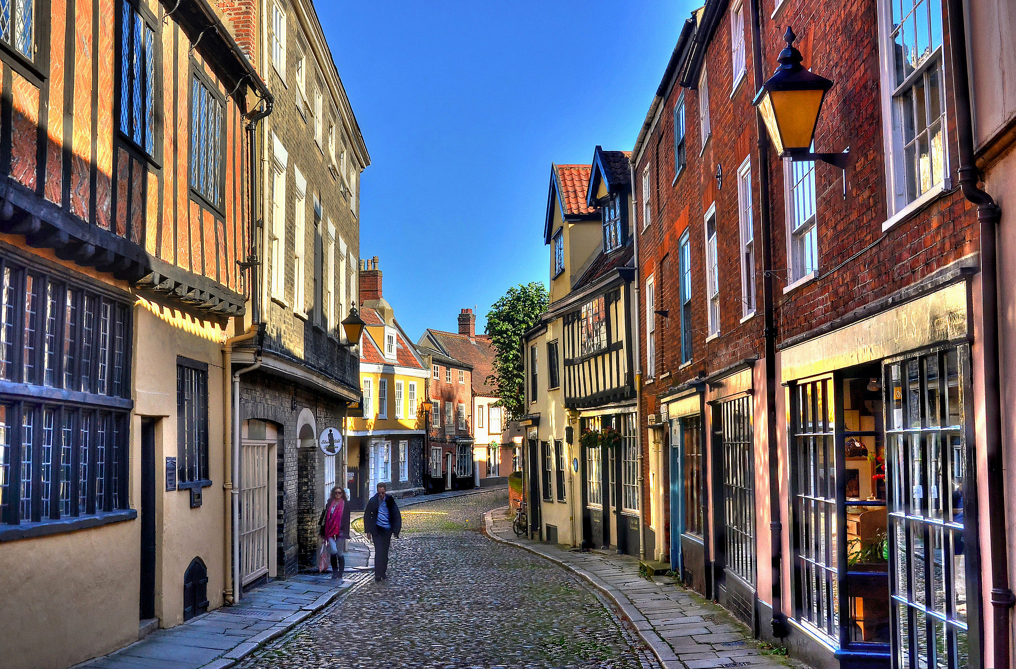 Ancient street in Norwich's city centre by Baz Richardson.jpg