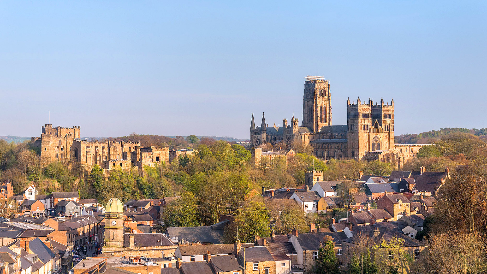 Durham Cathedral and Castle from the Rail Viaduct by Gerry Lynch.jpg