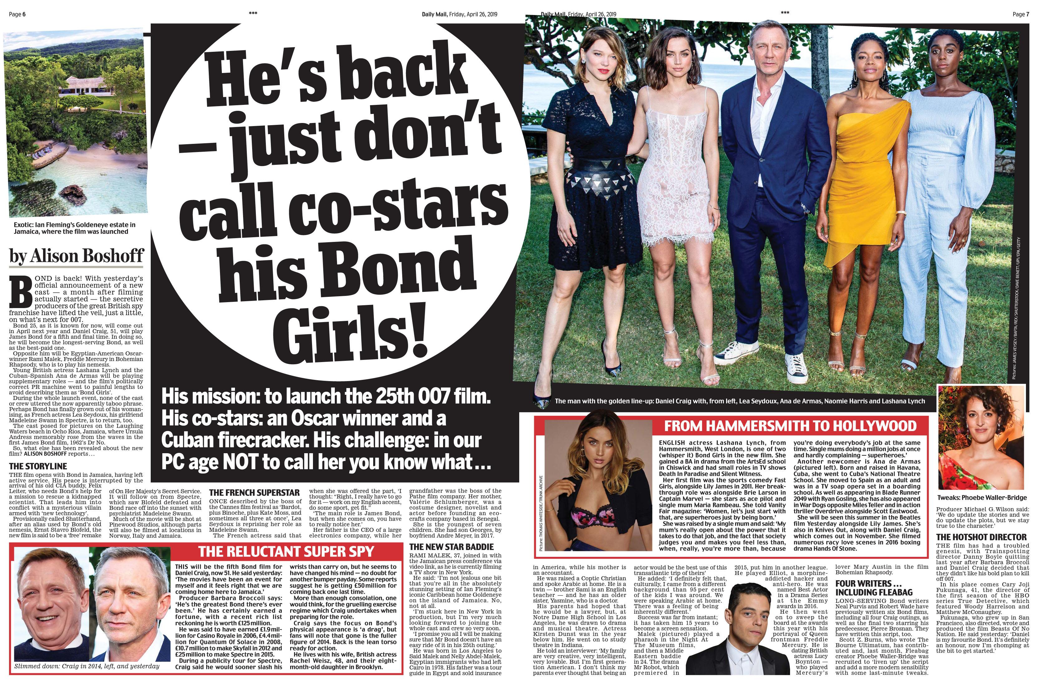 Daily Mail April 26 2019 Bond 25.jpg