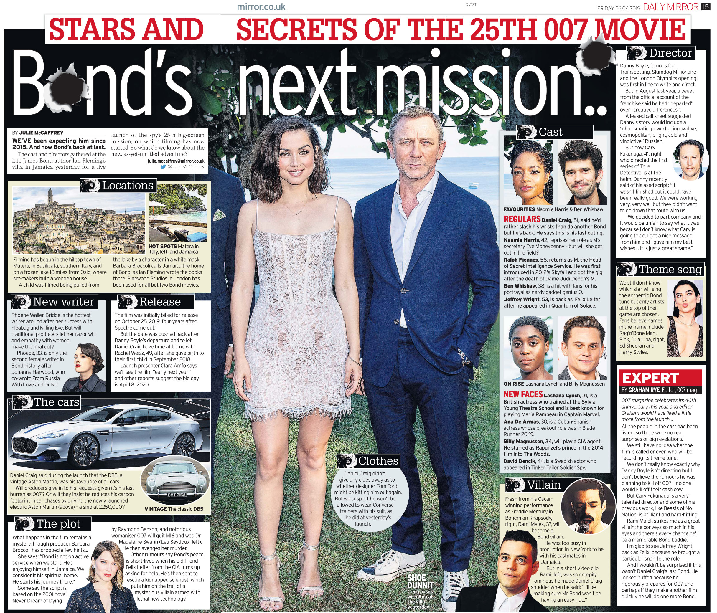 Daily Mirror April 26 2019 Bond 25.jpg