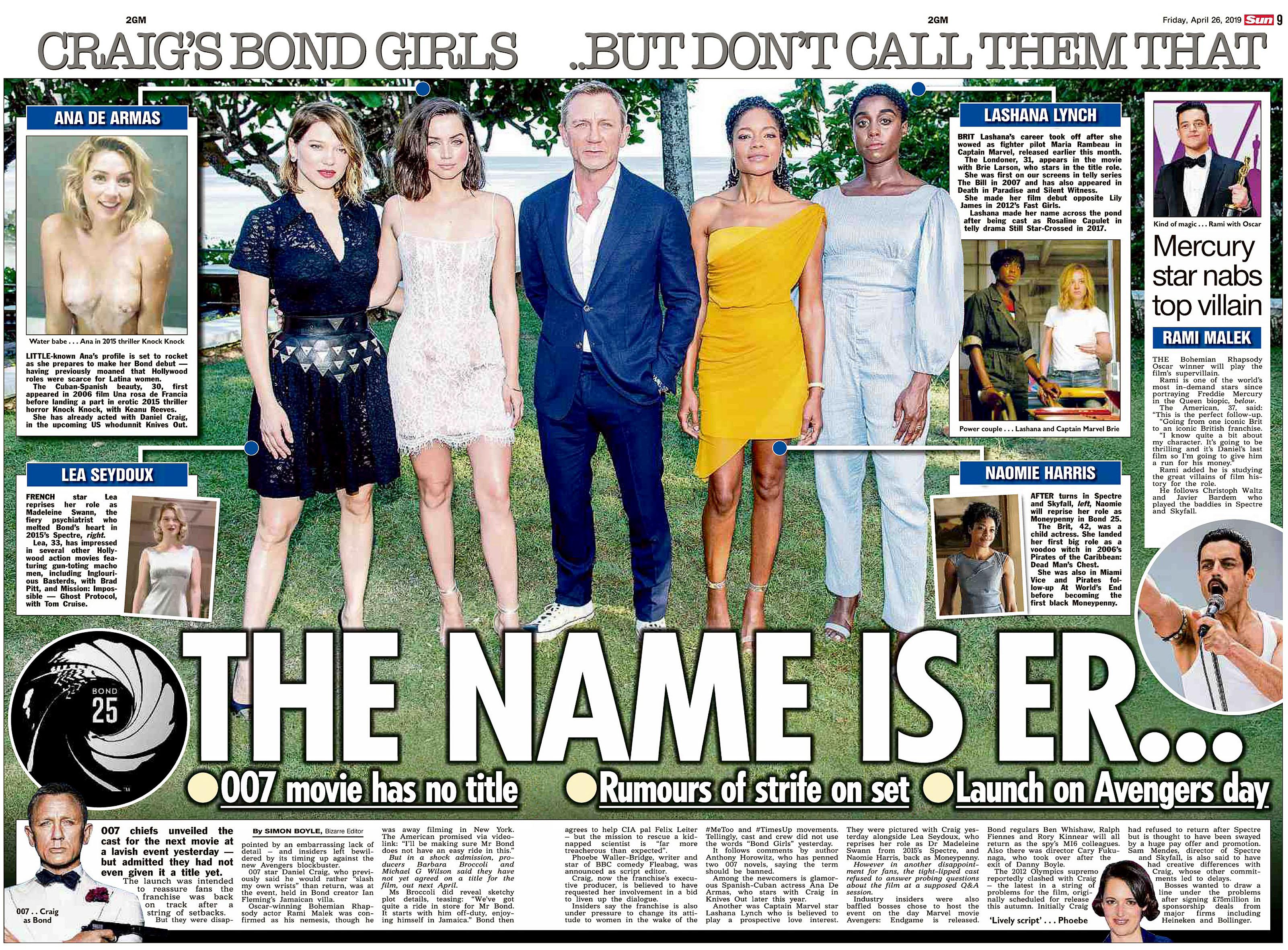The Sun UK 26 April 2019 Bond 25.jpg