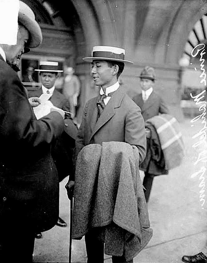 1916 Young & confident Prince Mahidol first trip to USA [Chicago].jpg
