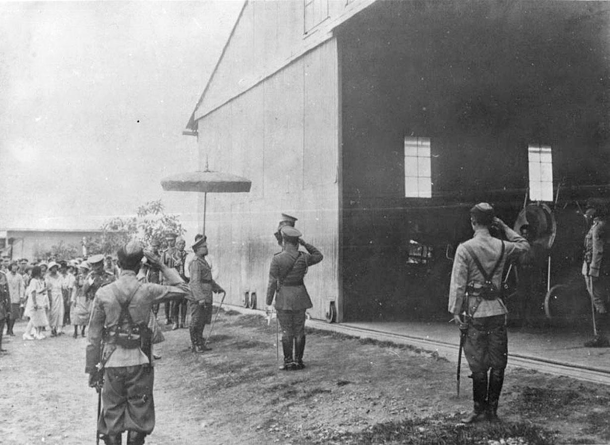 1919 King Vajiravudh during military inspections.jpg