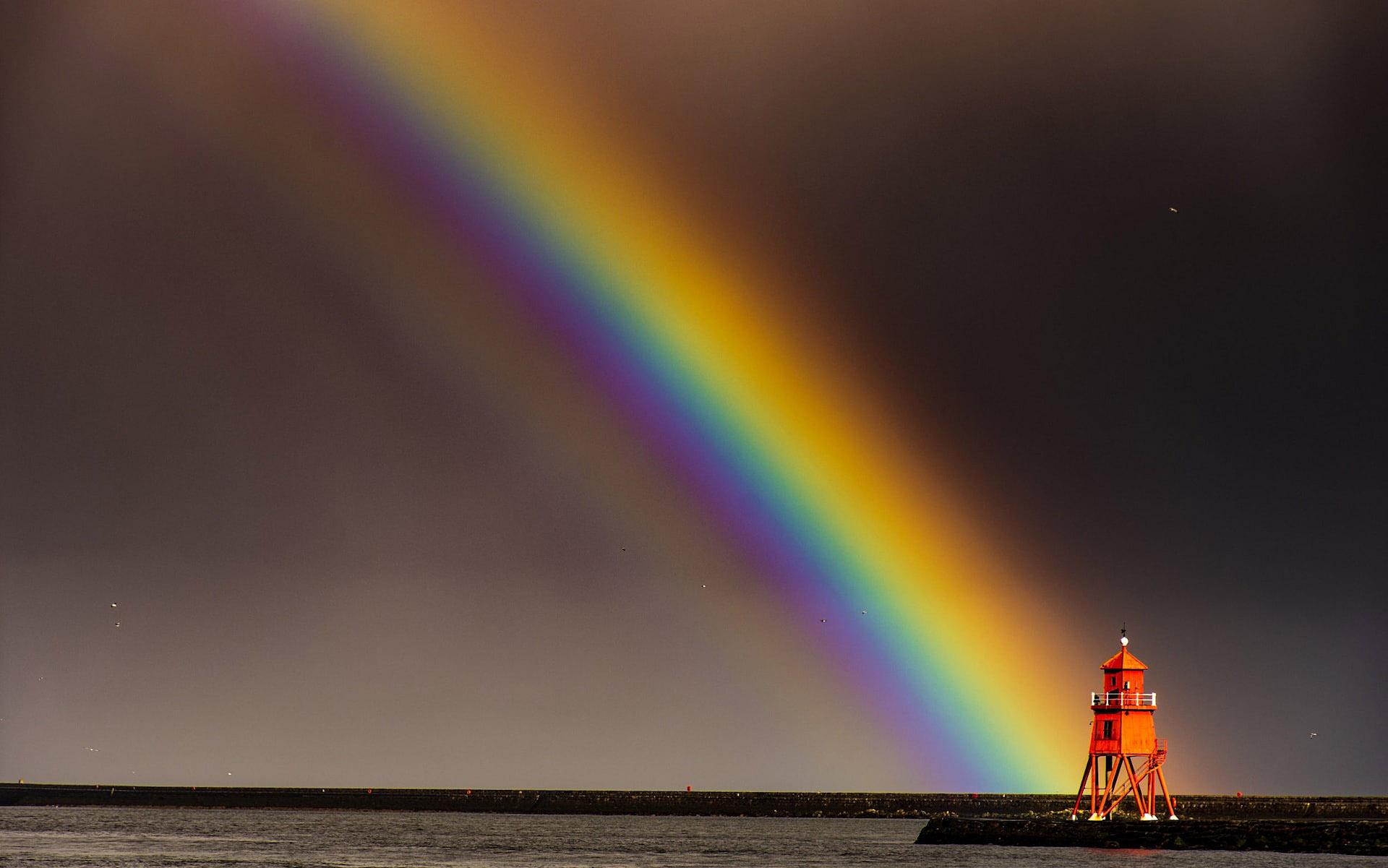 Rainbow over Herd Groyne Lighthouse, River Tyne by Tom Fatlin.jpg