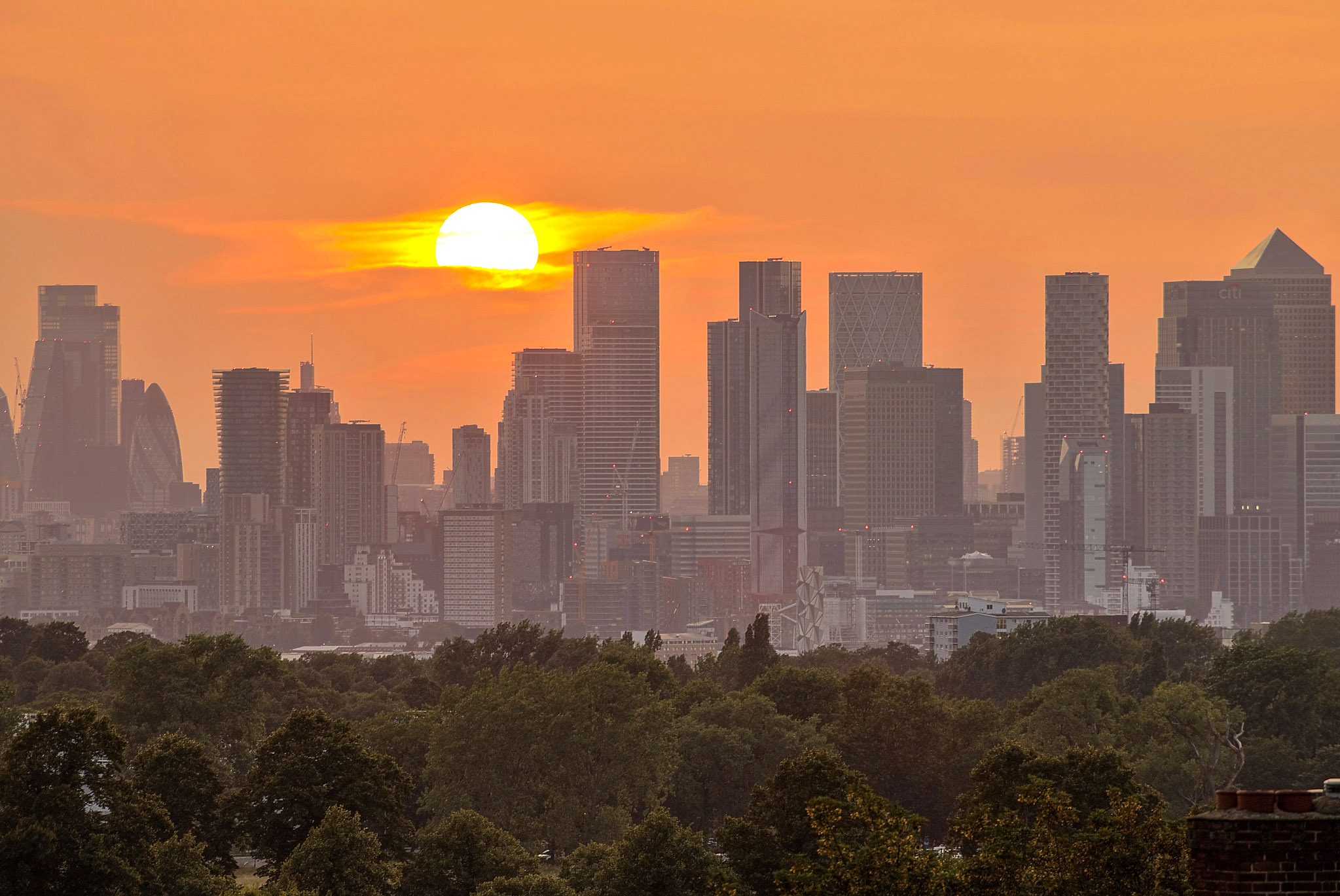 London skyline from Shooter's Hill by Andrea Pucci.jpg
