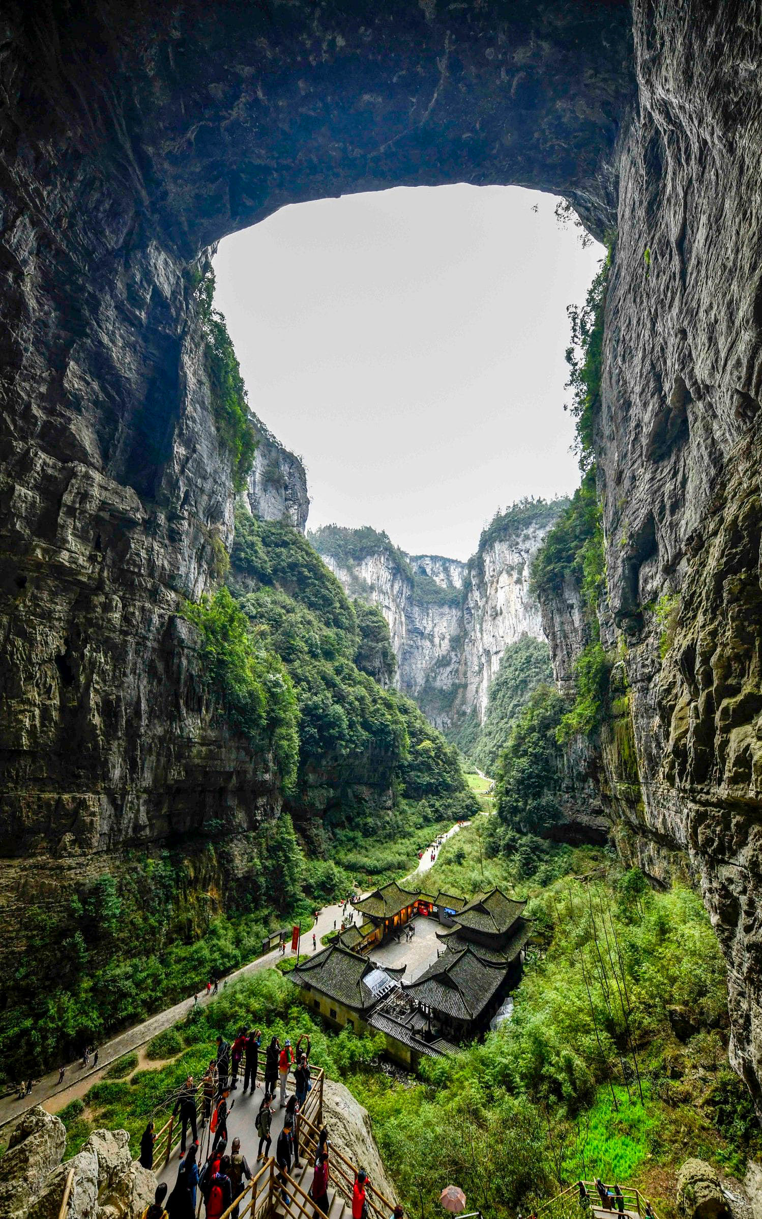 Tianlong Bridge, Tiansheng Sanqiao, Wulong District, Chongqing, China via Xinhua.jpg