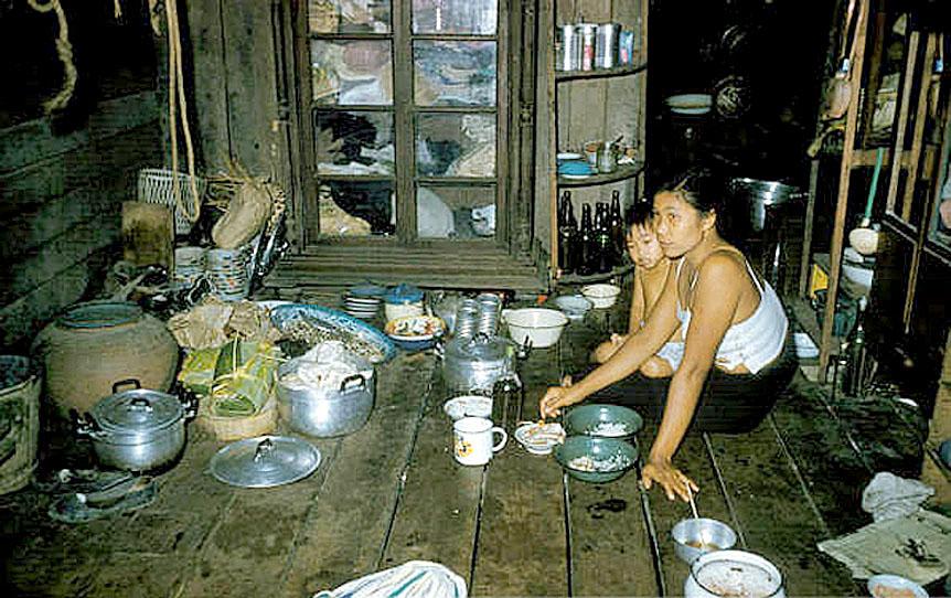 1960 Inside the living eating area of old Bangkok teak home.jpg