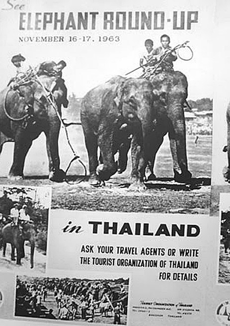 1963 Poster promoting an elephant round-up.JPG