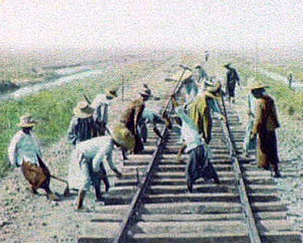1895 Labourers repairing railroad tracks.jpg