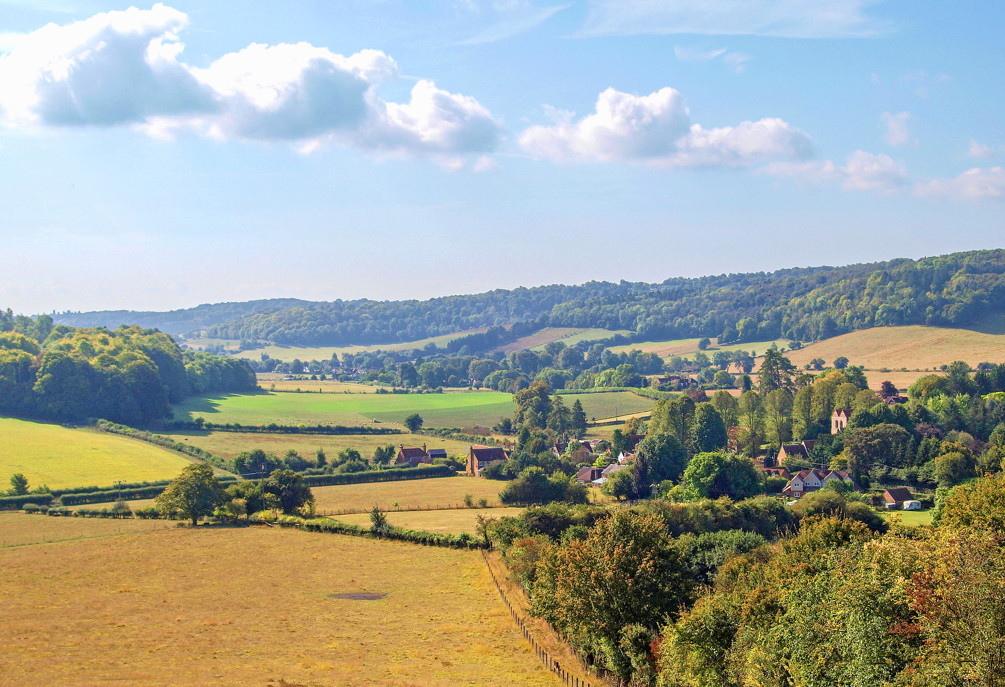 A view of the Hambleden Valley from above Fingest, Buckinghamshire by Andrew S Brown.jpg