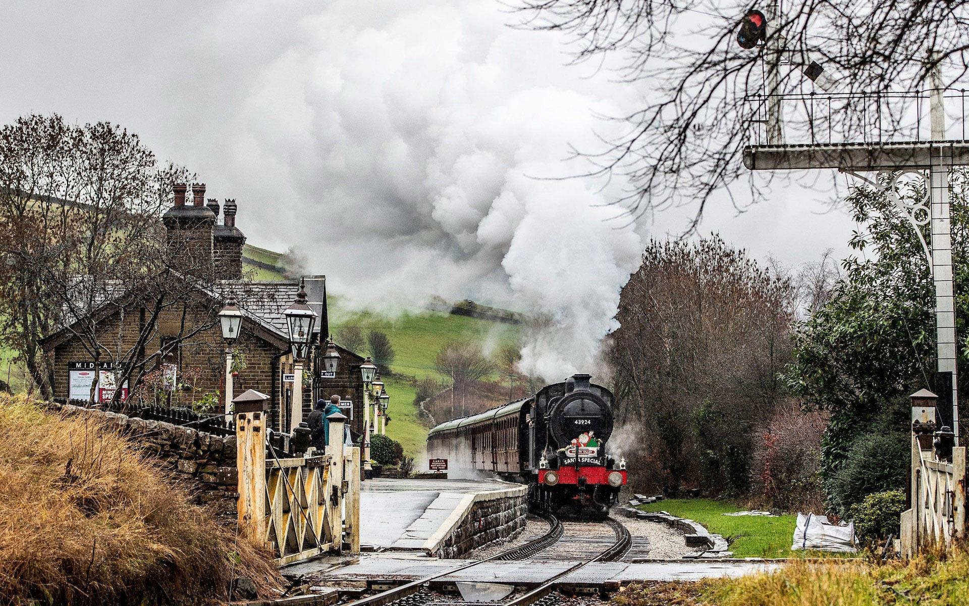 Santa Special Steam runs through Oakworth Station by Charlotte Graham.jpg