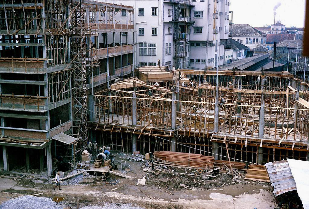 1966 Construction near the junction of Charoen Krung and Surawong Roads.jpg