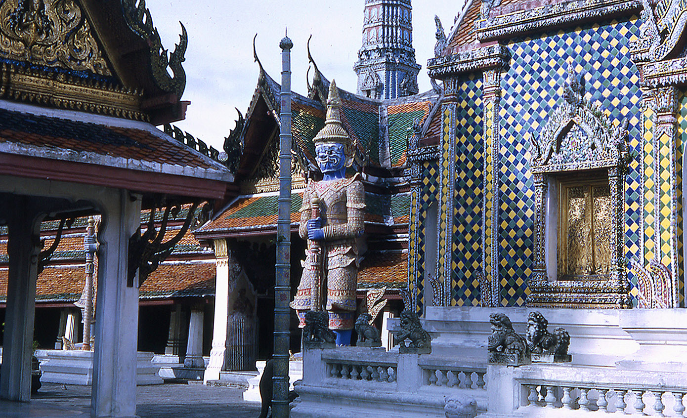 1968 Giant guards at Buddist Temple.jpg