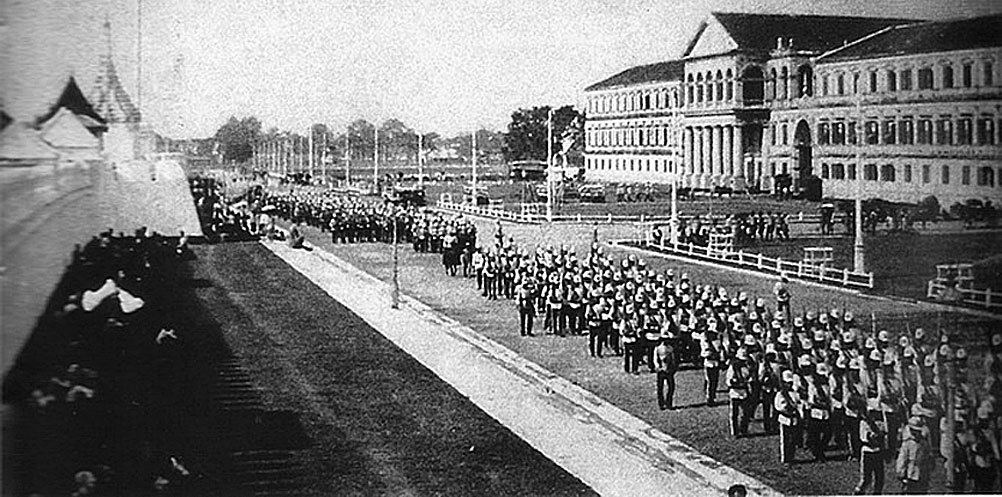 1931 Parading infantry & the Royal Siam Ministry of Defence.jpg