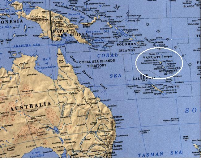 Вануату где это находится