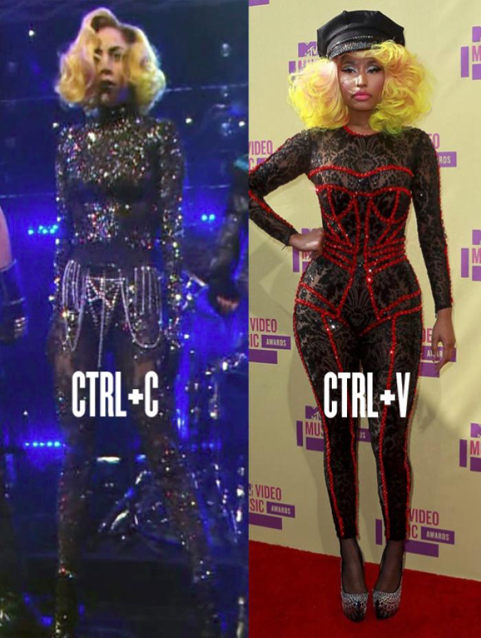 Nicki Minaj Copies Beyonce Gaga Calls Out ...