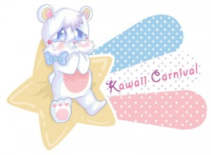 Kawaii Carnival bear logo