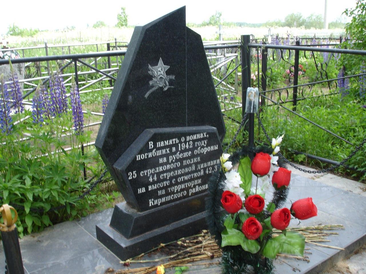 Братская могила отца матери.