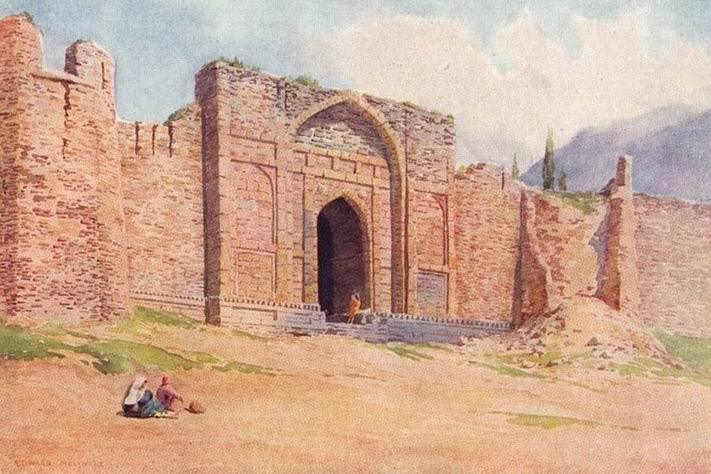 Ворота крепости Хари Парбат, Сринагар, 1924г.