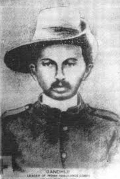М.К.Ганди в годы Бурской войны.