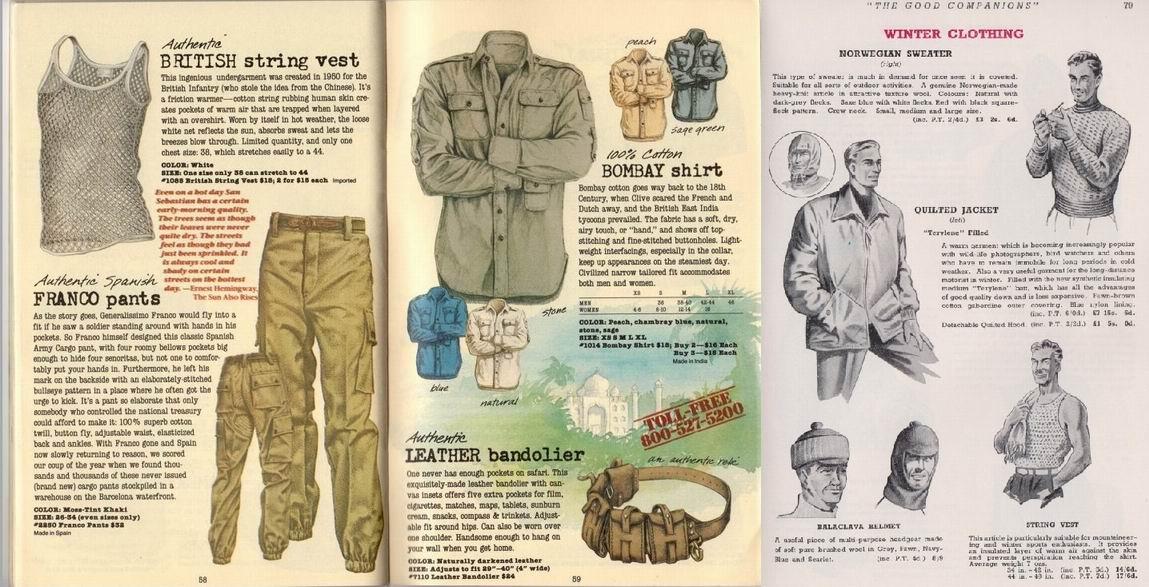 Каталоги спортивной и туристической одежды.
