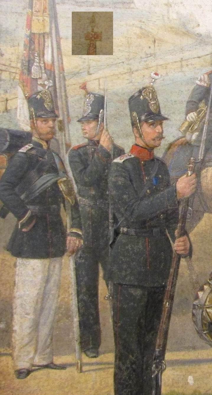 Знаменосец Орловского пехотного полка.