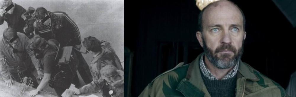 """Командующий САС во время штурма Иранского посольства в 1980г. - это уже Ахрененно алли. (слева реальная фотография, справа кадр из фильма """"6 дней"""" 2017г.)"""