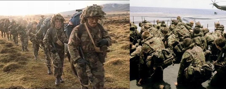 На практике, как водится, солдаты вносили некоторые изменения в стандартный набор. Что-то убирали, отрезали ремешки, добавляли подсумки. Здесь например слева - бандольеры, справа- на одном солдате американская фляга.