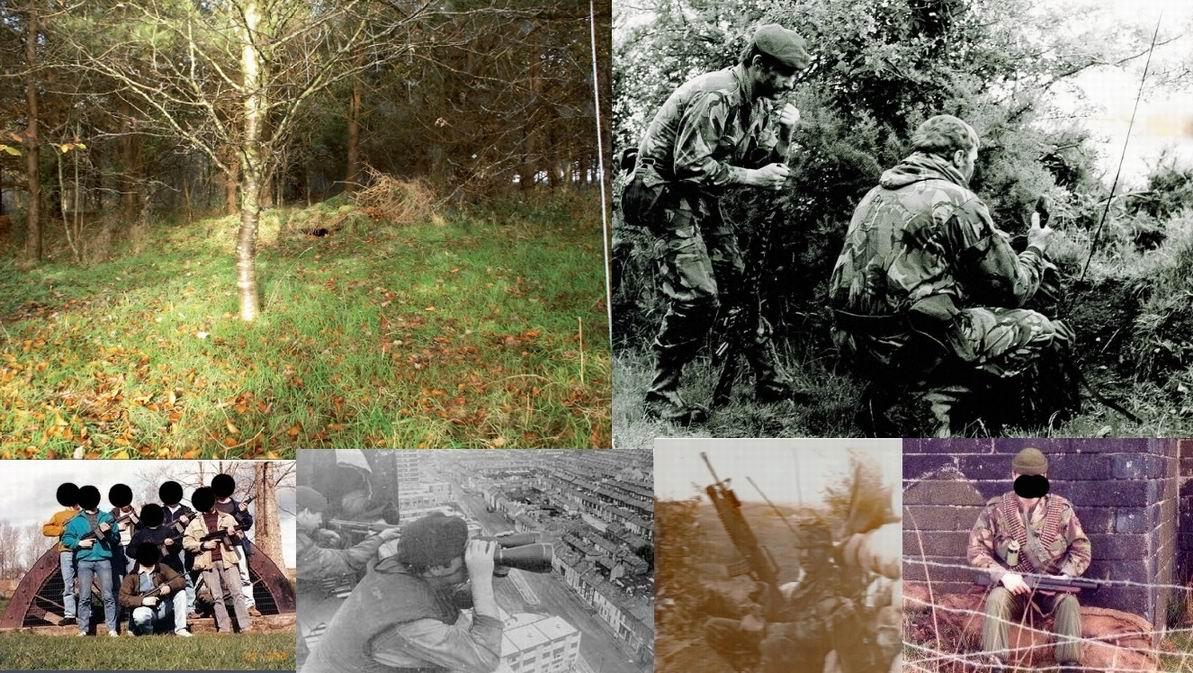 Сверху справа- замаскированный наблюдательный пост. Амбразура условно открыта для показа, иначе не заметно. Слева сверху - бойцы СОР 1го Пара, 1982г. Внизу предполагаемые фотографии бойцов СОР в разное время.