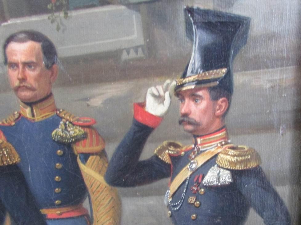 Помощник командира полка полковник Н.П. Соколовский.