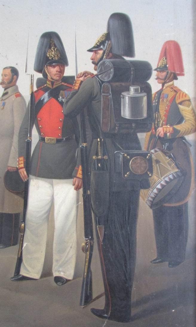 """Фрагмент картины """"Группа военных чинов Лейб-Гвардии Финляндского полка"""", 1858г."""