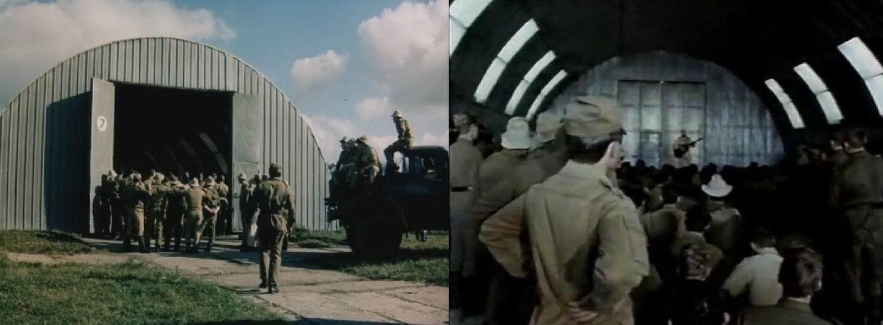 Солдаты и офицеры слушают концерт Розенбаума. Интересно разнообразие оттенков, показывающее разные сроки службы.